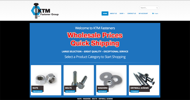 KTM Fasteners records first sale on OCRON eCommerce build.
